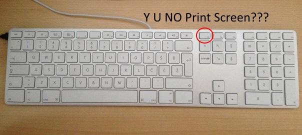 Как сделать print screen на клавиатуре mac
