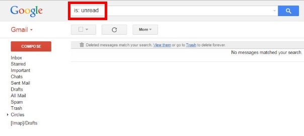 how to show all unread e-mail in gmail