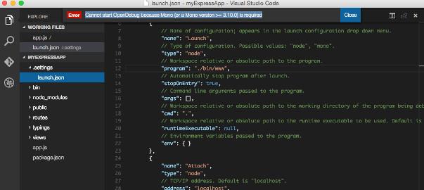 VisualStudioCodeNodeJS
